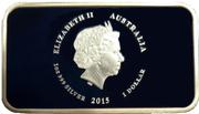 1 Dollar - Elizabeth II (4th Portrait -... I love her jewel sea) -  obverse