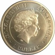 1 Dollar - Elizabeth II (4th Portrait - Australian Funnel-Web Spider - High Relief Proof) -  obverse