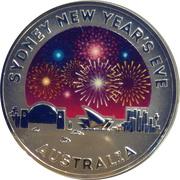 1 Dollar - Elizabeth II (4th Portrait - Sydney New Year's Eve) -  reverse