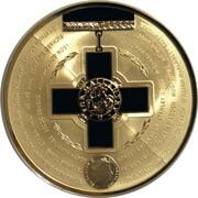 5 Dollars - Elizabeth II (4th Portrait - Australian Bravery Medal - Silver Gilded) -  obverse