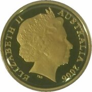 2 Cents - Elizabeth II (4th Portrait - Gold Proof Issue) – obverse
