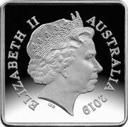 25 Cents - Elizabeth II (4th Portrait - Kookaburra 1919 Pattern - Silver Proof) -  obverse