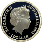 1 Dollar - Elizabeth II (4th Portrait - Maklouf Effigy - Silver Gem-Proof) -  obverse