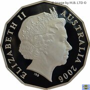 50 Cents - Elizabeth II (4th Portrait - 80th Birthday - Silver Proof) – obverse