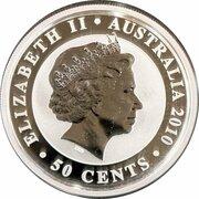 50 Cents - Elizabeth II (4th Portrait - Koala - Silver Bullion Coin) -  obverse