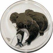 50 Cents - Elizabeth II (4th Portrait - Koala - Silver Bullion Coin) -  reverse