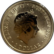 1 Dollar - Elizabeth II (4th Portrait - Queen Victoria 175th Anniversary) – obverse