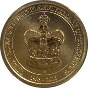 1 Dollar - Elizabeth II (4th Portrait - Queen Elizabeth II 60th Anniversary) – reverse