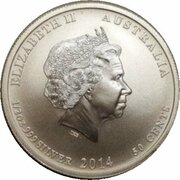 50 Cents - Elizabeth II (4th Portrait - Houston-Perth Sister Cities) -  obverse