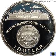 1 Dollar - Elizabeth II (3rd Portrait - Australia's Old Parliament House) -  reverse
