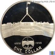 1 Dollar - Elizabeth II (4th Portrait - Australia's New Parliament House) -  reverse