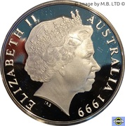 1 Dollar - Elizabeth II (4th Portrait - Majestic Images - Silver Proof) -  obverse