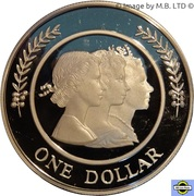 1 Dollar - Elizabeth II (4th Portrait - Majestic Images - Silver Proof) -  reverse