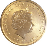 1 Dollar - Elizabeth II (4th Portrait - Season's Greetings) -  obverse