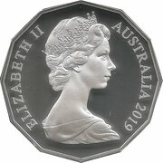 50 Cents - Elizabeth II (2nd portrait - Dodecagonal type - Silver Proof) -  obverse