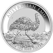 1 Dollar - Elizabeth II (4th Portrait - Emu - Silver Bullion Coin) -  reverse