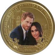 1 Dollar - Elizabeth II (4th Portrait - Royal Wedding 2018) -  reverse