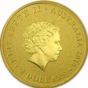 2 Dollars - Elizabeth II (4th Portrait - Mini Kookaburra - Gold Bullion Coin) -  obverse