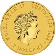 2 Dollars - Elizabeth II (4th Portrait - Mini Roo - Gold Bullion Coin) -  obverse