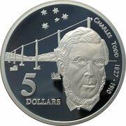 5 Dollars - Elizabeth II (3rd Portrait - Charles Todd - Masterpieces in Silver) -  reverse