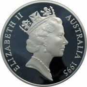 5 Dollars - Elizabeth II (3rd Portrait - Elizabeth Macarthur - Masterpieces in Silver) -  obverse