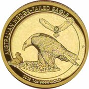 100 Dollars Elizabeth II (4th Portrait - Wedge-tailed Eagle - High Relief Gold Proof) -  reverse