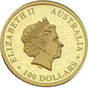 100 Dollars Elizabeth II (4th Portrait - Wedge-tailed Eagle - High Relief Gold Proof) -  obverse