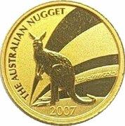 5 Dollars - Elizabeth II (4th Portrait - Kangaroo - Gold Bullion Coin) -  reverse