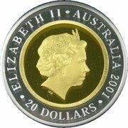 20 Dollars - Elizabeth II (4th Portrait - Life of Sir Donald Bradman - Bi-Metalic Gold-Silver Proof) -  obverse