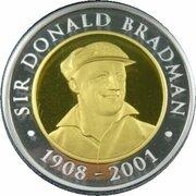 20 Dollars - Elizabeth II (4th Portrait - Life of Sir Donald Bradman - Bi-Metalic Gold-Silver Proof) -  reverse