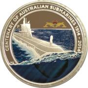 1 Dollar - Elizabeth II (4th Portrait - Submarine Service) -  reverse