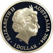 1 Dollar - Elizabeth II (4th Portrait - AIF Sail from Albany) -  obverse