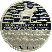 1 Dollar - Elizabeth II (4th Portrait - AIF Sail from Albany) -  reverse