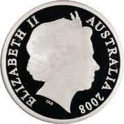 5 Dollars - Elizabeth II (4th Portrait - 30 Years of Territory Government - Silver Proof) -  obverse