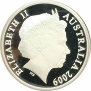 5 Dollars - Elizabeth II (4th Portrait - 150 Years of State Government Queensland - Silver Proof) -  obverse