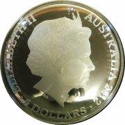 5 Dollars - Elizabeth II (4th Portrait - Southern Sky - Crux - Domed Silver) -  obverse