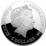 5 Dollars - Elizabeth II (4th Portrait - Southern Sky - Orion - Domed Silver) -  obverse