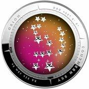 5 Dollars - Elizabeth II (4th Portrait - Southern Sky - Orion - Domed Silver) -  reverse