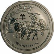 8 Dollars - Elizabeth II (4th Portrait - Year of the Goat - Silver Bullion Coin) -  reverse