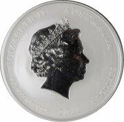 8 Dollars - Elizabeth II (4th Portrait - Year of the Rabbit - Silver Bullion Coin) -  obverse
