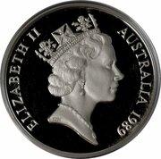 10 Dollars - Elizabeth II (3rd Portrait - Kookaburra - Silver Proof) -  obverse