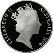 10 Dollars - Elizabeth II (3rd Portrait - Wedge-tailed Eagle -  Piedfort) -  obverse