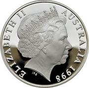 10 Dollars - Elizabeth II (4th Portrait - Hairy Nosed Wombat - Piedfort) -  obverse