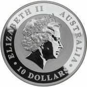 10 Dollars - Elizabeth II (4th Portrait - Koala - Silver Bullion Coin) -  obverse