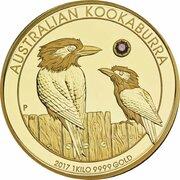 5000 Dollars - Elizabeth II (4th Portrait - The Australian Trilogy - Kookaburra) -  reverse