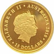 15 Dollars - Elizabeth II (4th Portrait - Koala - Gold Bullion Coin) -  obverse