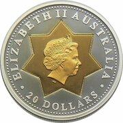 20 Dollars - Elizabeth II (4th Portrait - Centenary of Federation- Floral Emblems) -  obverse