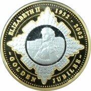 20 Dollars - Elizabeth II (4th Portrait - Golden Jubilee Accession - Bi-Metalic Proof) -  reverse