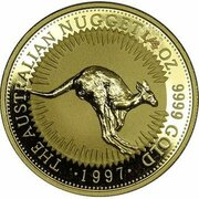 25 Dollars - Elizabeth II (3rd Portrait - Australian Nugget - Gold Bullion Coin) -  reverse
