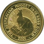 25 Dollars - Elizabeth II (4th Portrait - Australian Nugget - Gold Bullion Coin) -  reverse